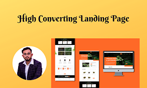 I will create a high converting landing page for your business