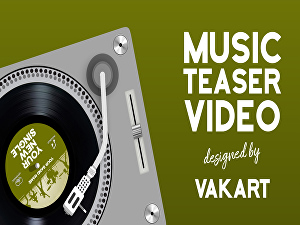 I will create a music teaser video