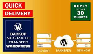 I will backup website, migrate, transfer WordPress website in 24 hours