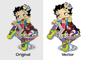 I will convert to vector illustration, redraw, logo, sketch, images