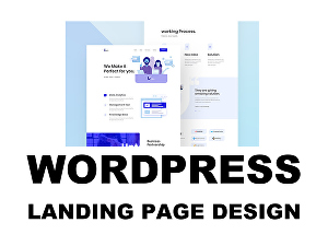 I will Create a WordPress Landing Page  or HTML Landing Page Website