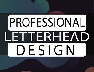 I will design a professional looking letterhead for your business