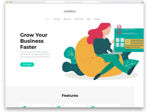 create a minimalist website startup package