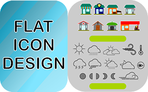 I will design flat icon