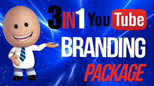I will create a video thumbnail, a channel art banner and logo for your youtube channel