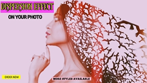 I will create an awesome DISPERSION EFFECT of your photo