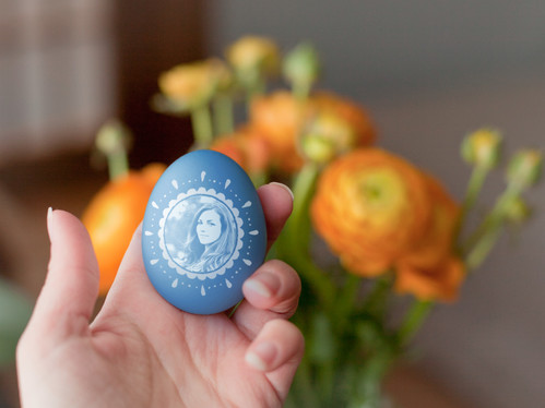 create your easter egg photo