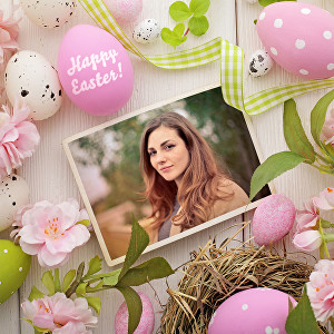 I will create your Easter egg photo with text