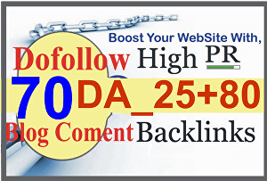 I will build high pr quality authority dofollow backlinks Da Pa seo