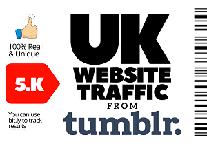 I will send 5,000 High Quality UK Web traffic from Tumblr