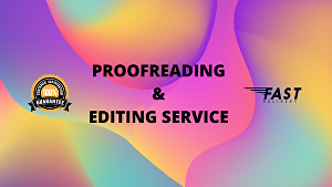 I will do high quality proofreading and editing in 24 hours