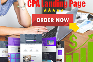 I will create a responsive landing page
