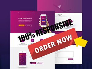 I will create an awesome responsive wordpress website and landing page
