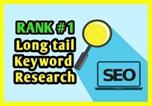 I will  do excellent SEO keyword research and competitors analysis to rank on google
