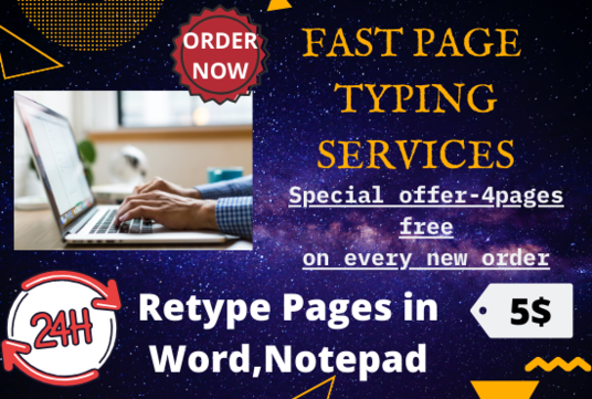 do fast page typing work of 15 pages within 24 hrs
