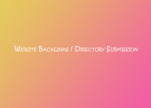 I will do link building, directory submission or create website backlinks