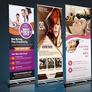 I will do an awesome roll up banner design