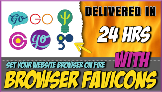 create a professional favicon design from your image or logo within 24 hours