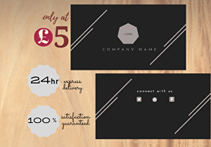 I will design standard and attractive double sided business card print ready files