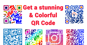I will create a stunning colourful qr code with your logo