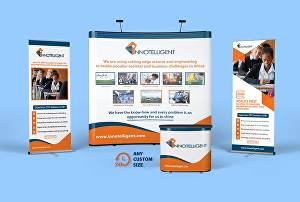 I will design roll up, retractable banner and premium trade show backdrop