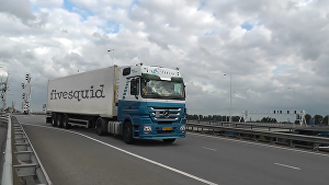 I will create this truck trailer video for your brand
