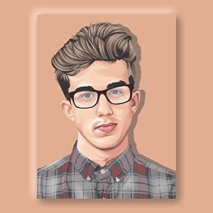 I will make realistic cartoon portrait of your photo