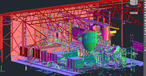 I will scan to 3d point cloud using plant 3d and autocad