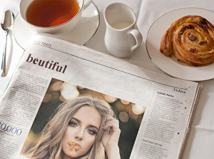 I will show your message and image on this newspaper with headline