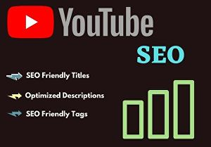 I will provide you the best SEO service for your youtube videos