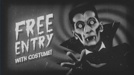 make a scary retro style video