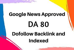 I will guest post on da 80 google news site dofollow backlink
