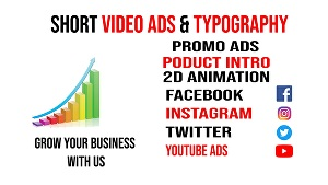 I will make short video ads, promo Video, business video