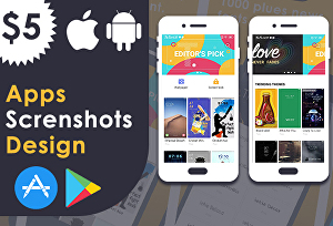 I will Design App Screenshots for PLAY STORE and  APP STORE