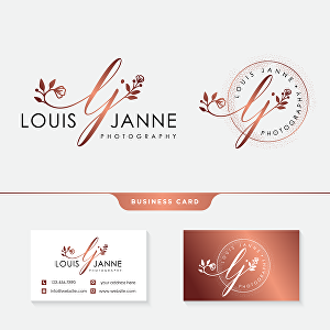 I will create an elegant and hand-drawn feminine/watercolor logo