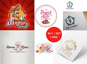 I will design a modern cake bakery food logo