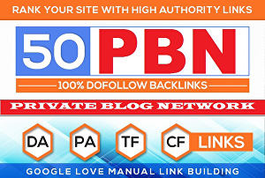 I will Manually Create 50 PBN Blog Network With Niche Related Articles and Indexing