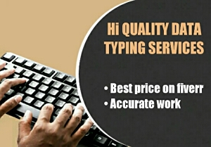 I will do all type of 10 page data entry work in under 24 hours