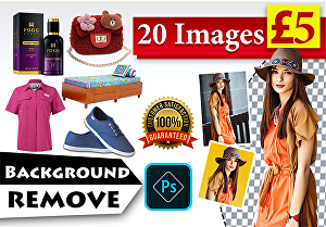 I will do cutout image background removal, change background, white, transparent background