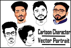 I will create cartoon character , caricature or vector cartoon portrait