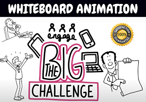 I will create whiteboard animation video in 24hr