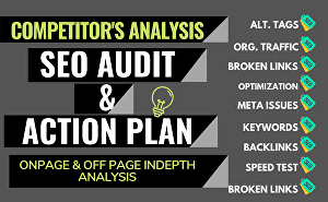 I will Provide a Detailed SEO Report, Competitor Audit and Action Plan