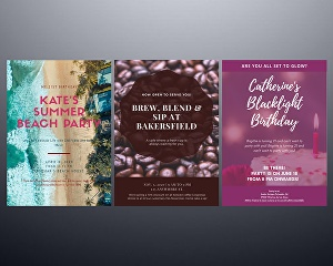 I will design flyers and posters for your businesses and events