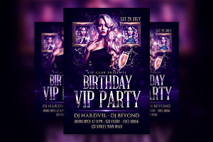 I will Design Birthday Party Flyer