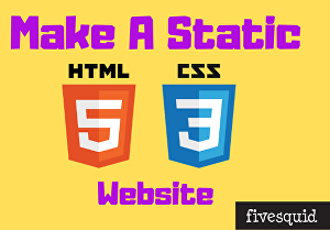 I will Make a Static HTML Page