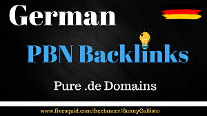 I will Provide High Authority German Pbn Backlinks On Pure German Domains
