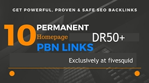 I will do 10 high DR50+ dofollow PBN Links