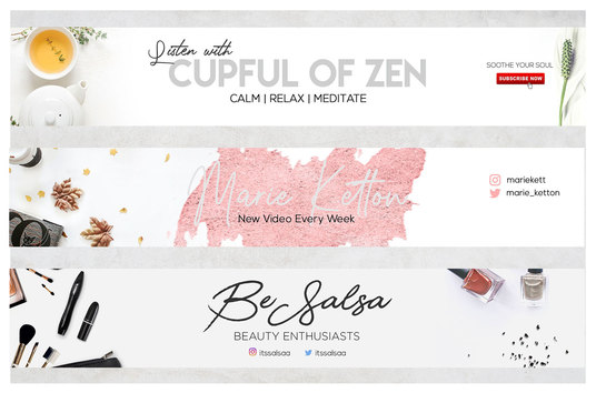 Design An Outstanding Youtube Banner in 24 hours