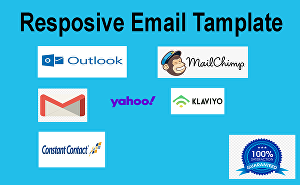 I will build responsive  HTML email template