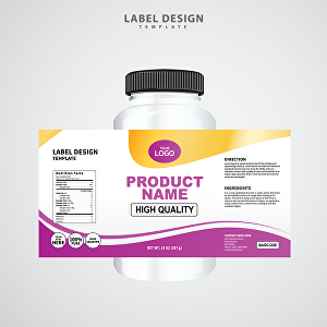 I will do product packaging design, label design, CBD label design